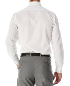 Leo Mens Slim Fit Snow White Dress Shirt - Giorgio's Menswear