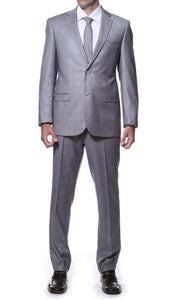 Lincoln Grey 2pc Slim Fit Plaid Suit - Giorgio's Menswear