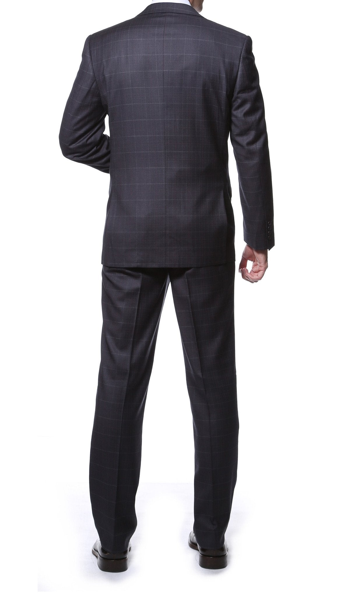 Lincoln Charcoal 2pc Slim Fit Plaid Suit - Giorgio's Menswear