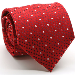 Mens Dads Classic Red Dot Pattern Business Casual Necktie & Hanky Set M-9 - Giorgio's Menswear