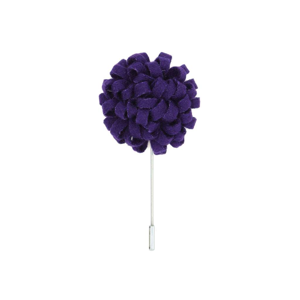 Manzu 49 Purple Lapel Pin - Giorgio's Menswear