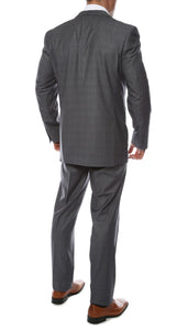 Moda Plaid Check Charcoal 2pc Slim Fit Suit - Giorgio's Menswear