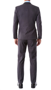 Oslo Charcoal Slim Fit Notch Lapel 2 Piece Suit - Giorgio's Menswear