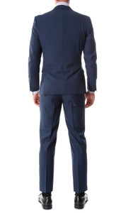 Oslo Navy Slim Fit Notch Lapel 2 Piece Suit - Giorgio's Menswear