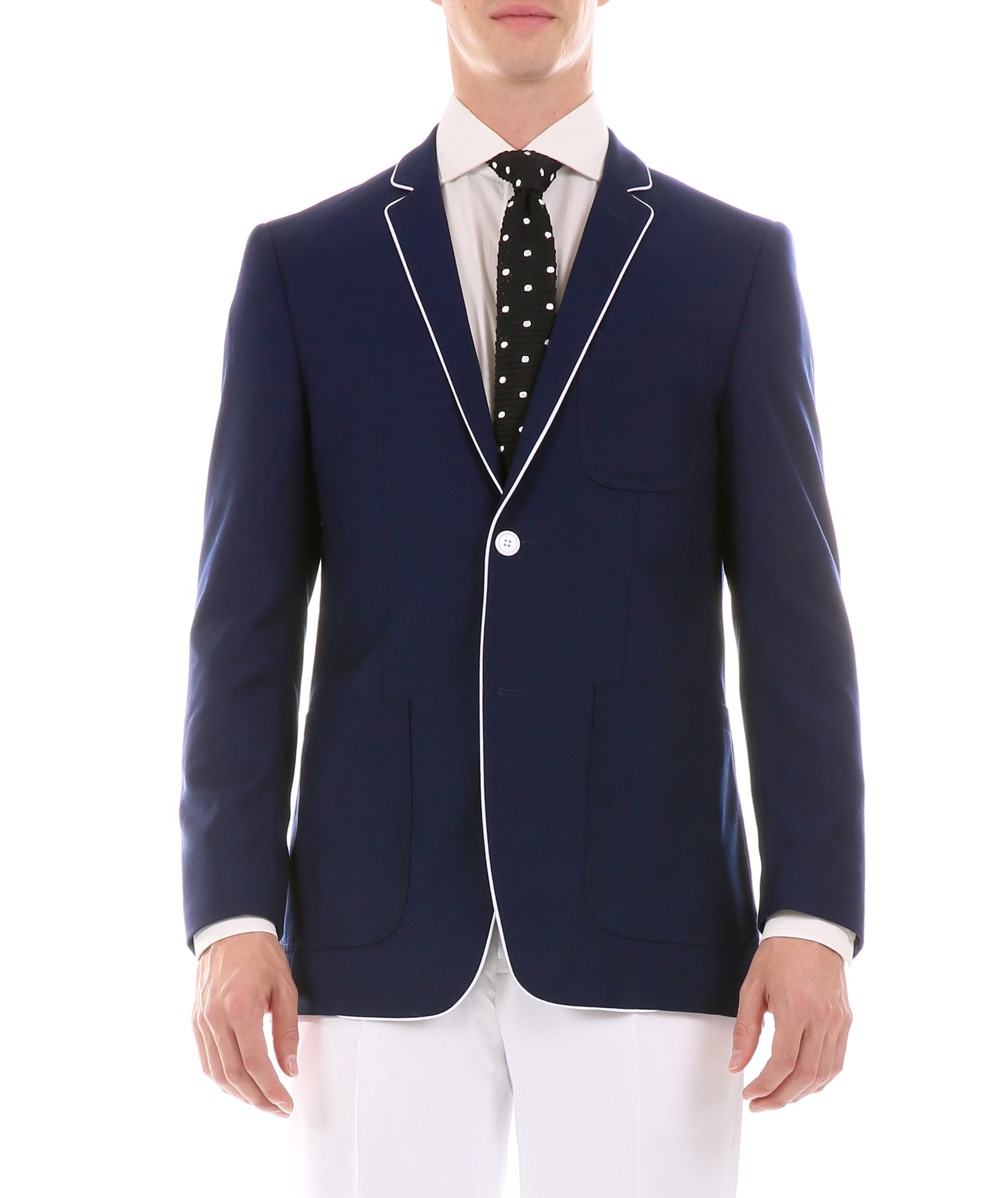 Mens Porter Navy Slim Fit Blazer - Giorgio's Menswear