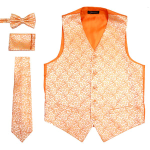 Ferrecci Mens PV50-8 Orange Vest Set - Giorgio's Menswear
