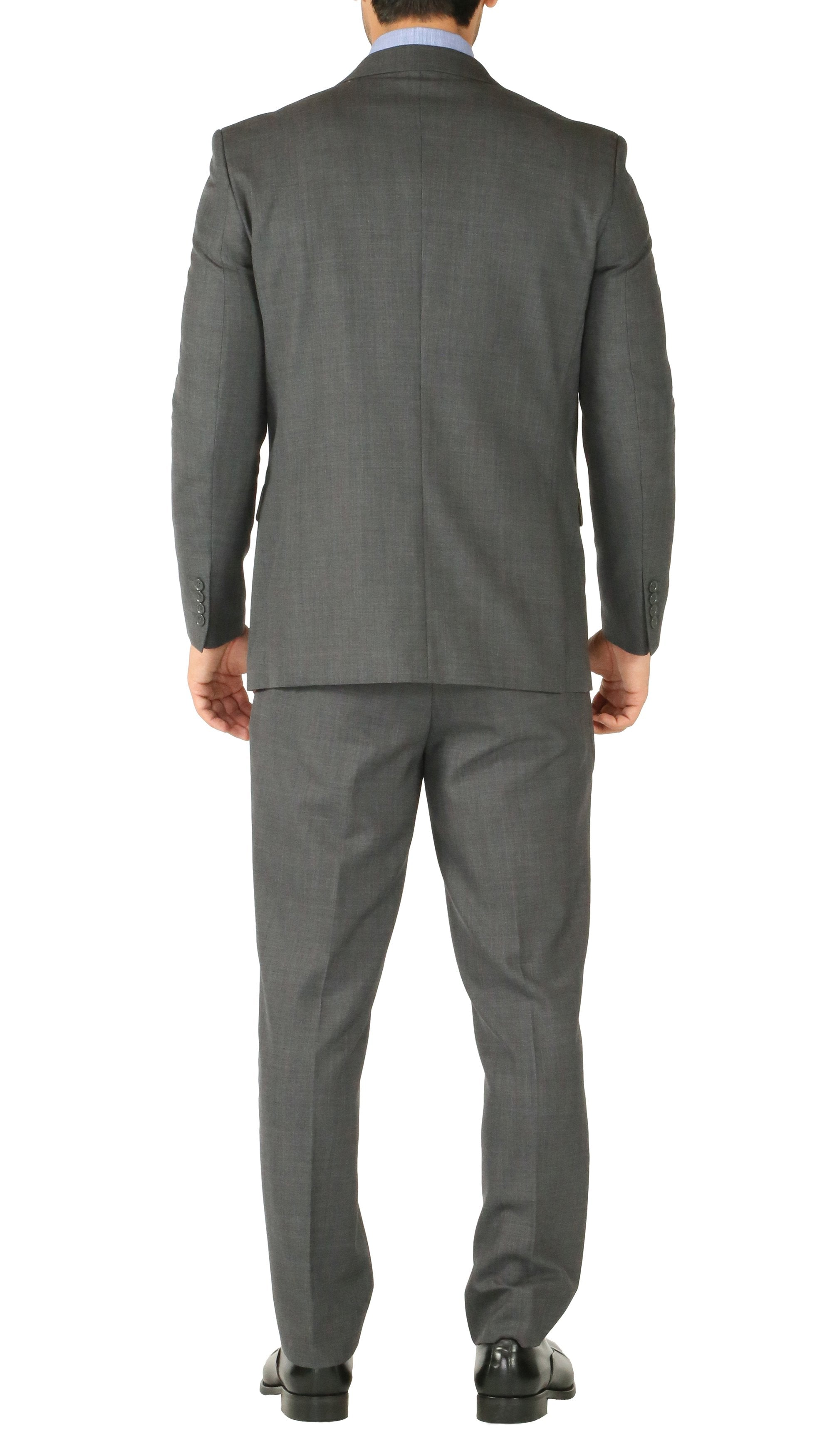 Rod Premium Grey Wool 2pc Stain Resistant Traveler Suit - w 2 Pairs of Pants - Giorgio's Menswear