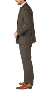 Rod Premium Taupe Wool 2pc Stain Resistant Traveler Suit - w 2 Pairs of Pants - Giorgio's Menswear