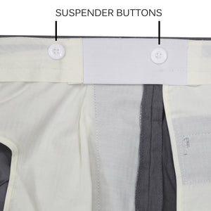 Premium Charcoal Regular Fit Suspender Ready Formal & Business Pants - Giorgio's Menswear