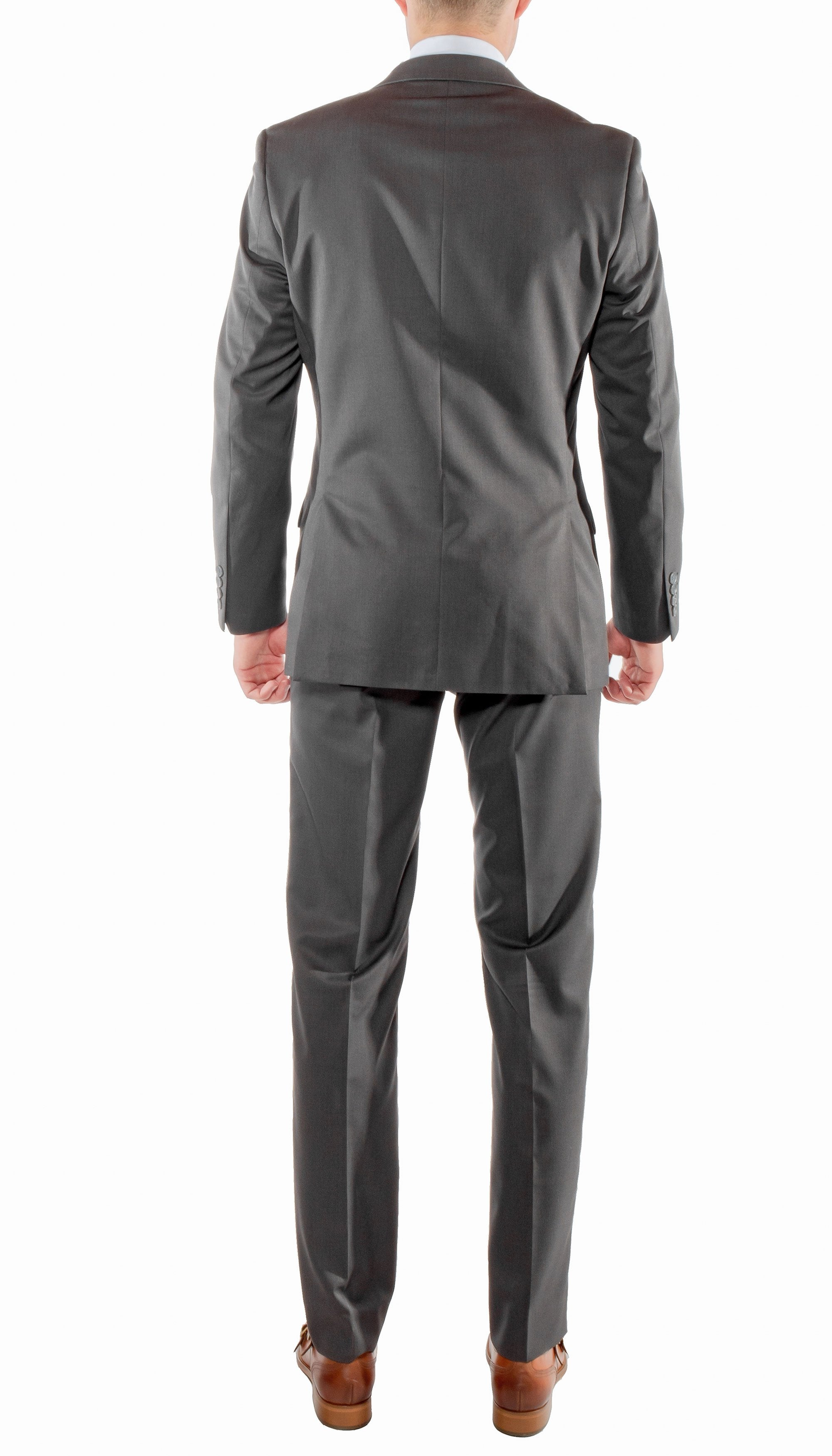 Ferrecci Mens Savannah Charcoal Slim Fit 3pc Suit - Giorgio's Menswear