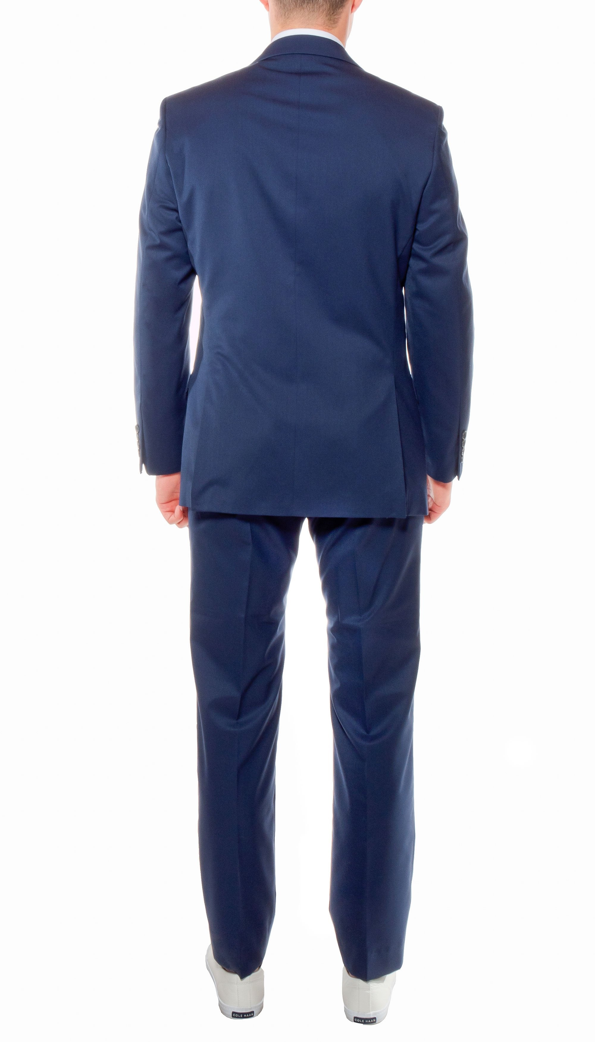 Ferrecci Mens Savannah Navy Slim Fit 3pc Suit - Giorgio's Menswear