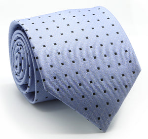 Mens Dads Classic Blue Square Pattern Business Casual Necktie & Hanky Set SO-8 - Giorgio's Menswear