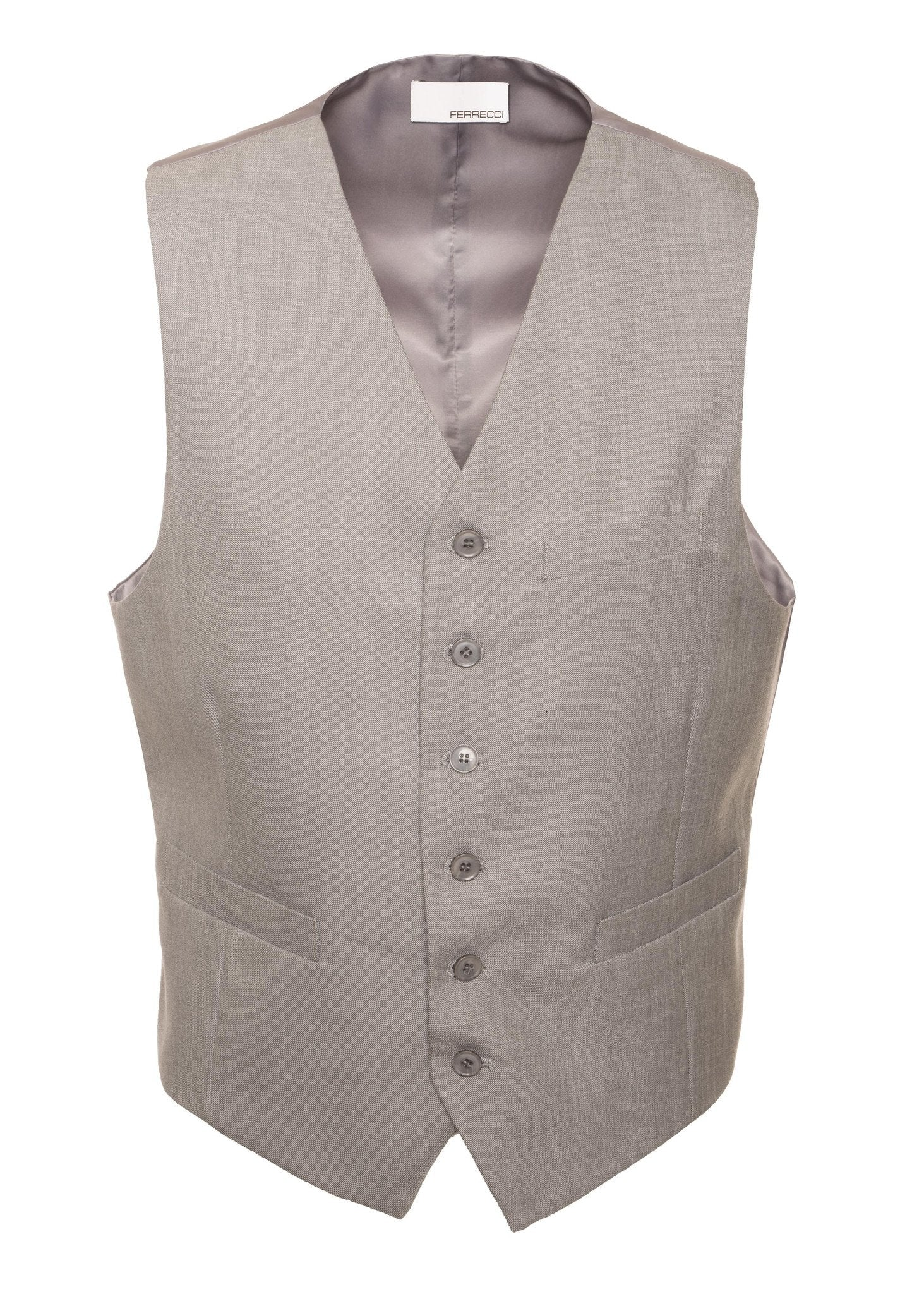 Solo Adjustable Casual & Formal Light Grey Vest - Giorgio's Menswear
