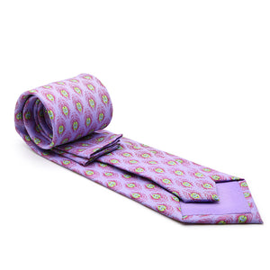 Feather Purple Necktie with Handkerchief Set - Giorgio's Menswear