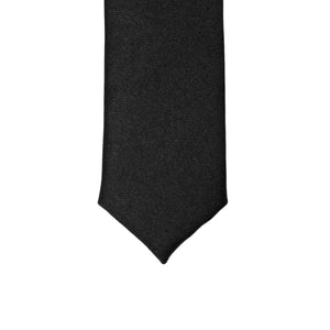 Super Skinny Black Shiny Slim Tie - Giorgio's Menswear