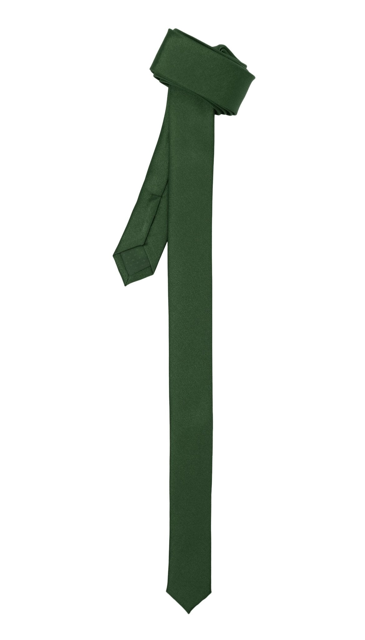 Super Skinny Hunter Green Shiny Slim Tie - Giorgio's Menswear