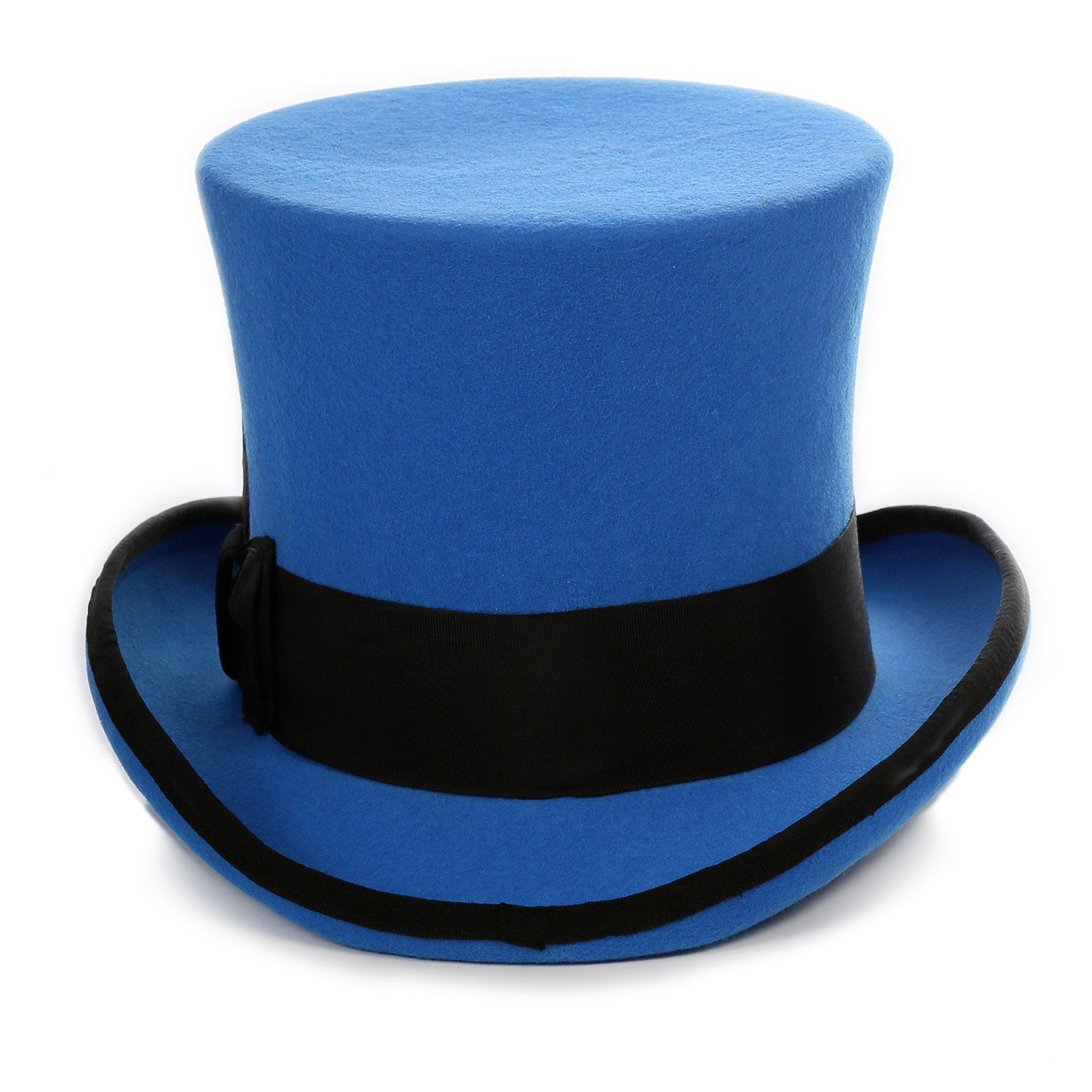 Ferrecci Royal Blue and Black Wool Felt Top Hat - Giorgio's Menswear