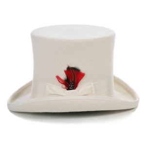 Premium Wool Off White Top Hat - Giorgio's Menswear