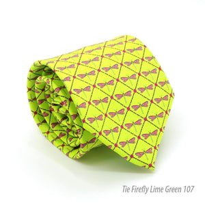 Firefly Lime Green Necktie with Handkerchief Set - Giorgio's Menswear
