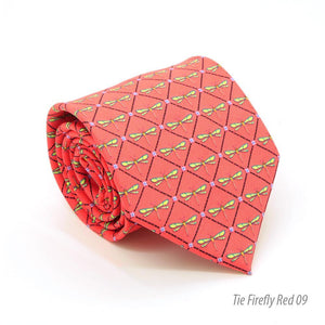 Firefly Red Necktie with Handkerchief Set - Giorgio's Menswear