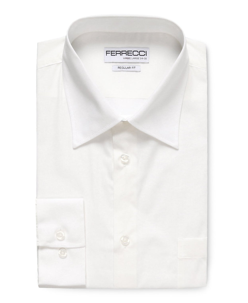 Virgo White Regular Fit Dress Shirt - Giorgio's Menswear