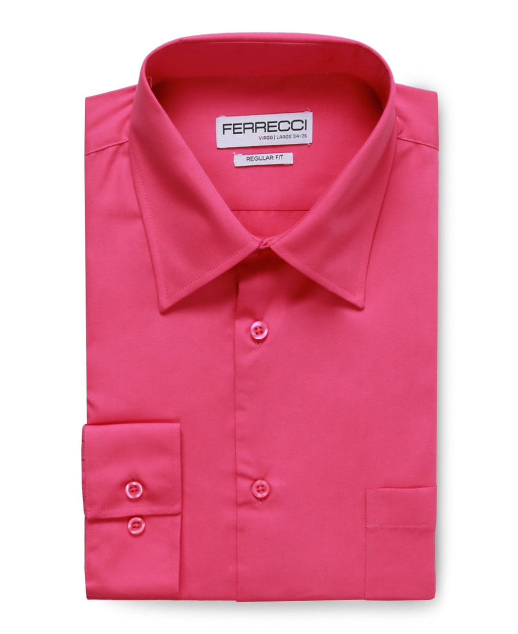 Virgo Fuchsia Regular Fit Dress Shirt - Giorgio's Menswear