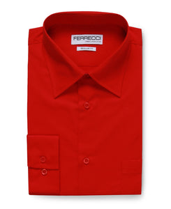 Virgo Red Regular Fit Dress Shirt - Giorgio's Menswear