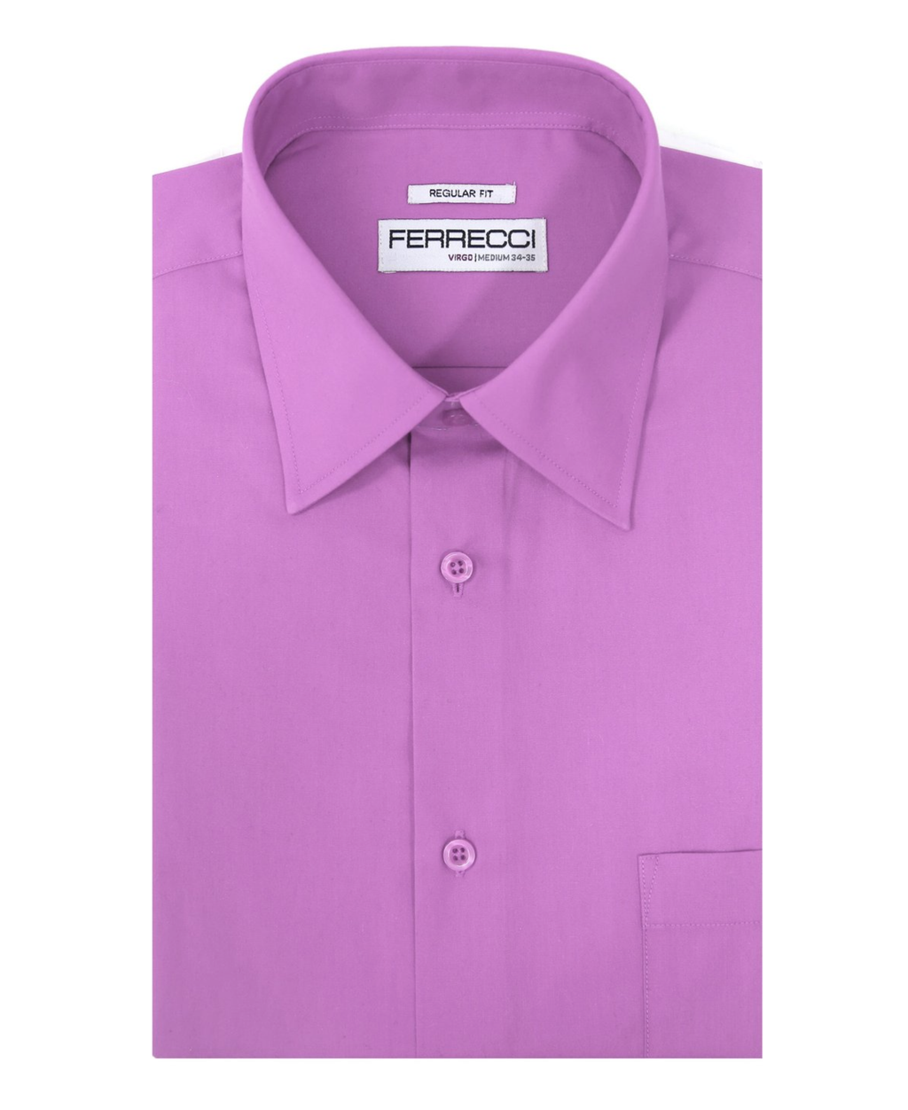 Virgo Lavender Regular Fit Dress Shirt - Giorgio's Menswear