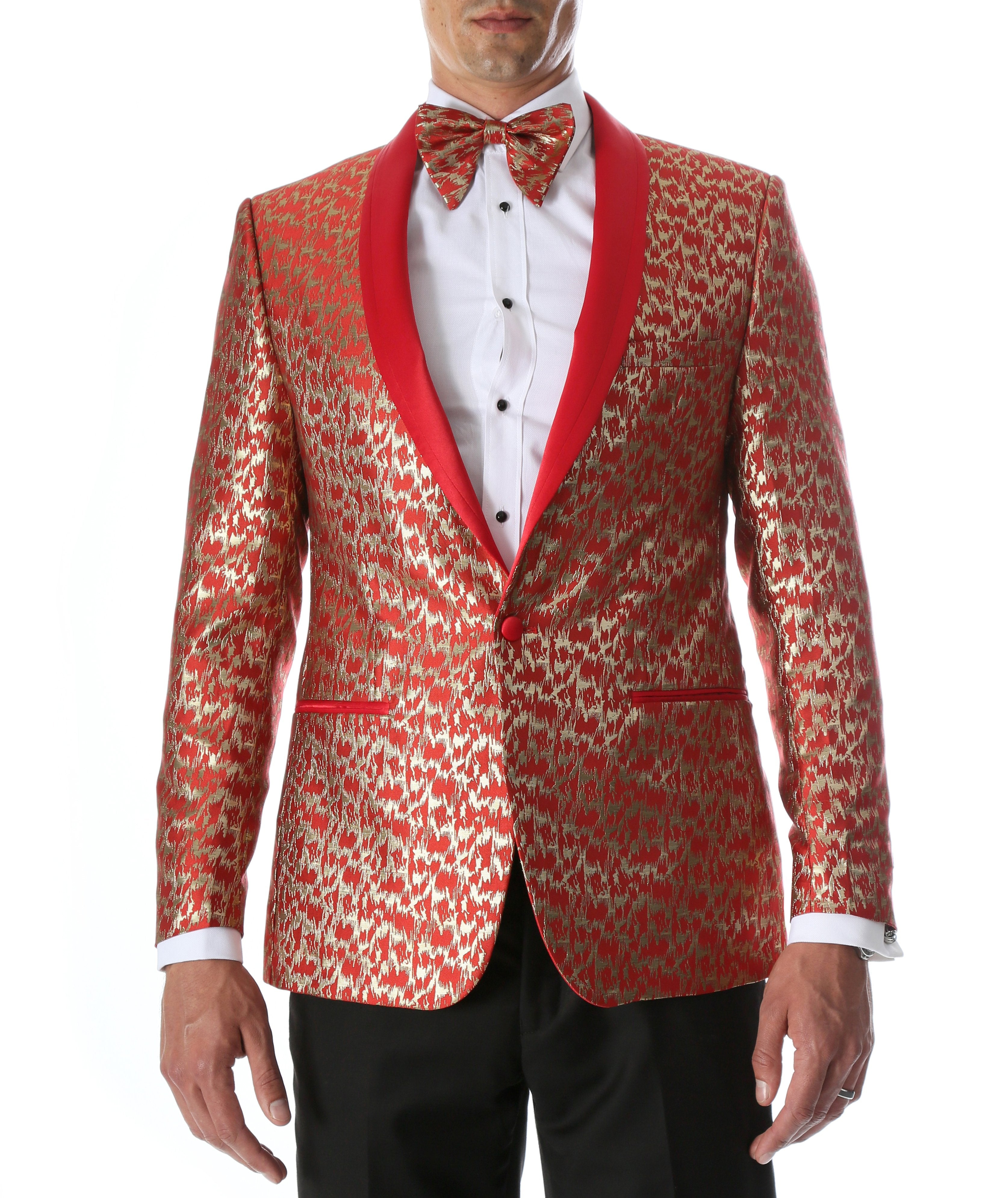 Men's Webber Red Modern Fit Shawl Collar Tuxedo Blazer - Giorgio's Menswear