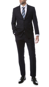 Mens ZNL22S 2pc 2 Button Slim Fit Navy Blue Zonettie Suit - Giorgio's Menswear