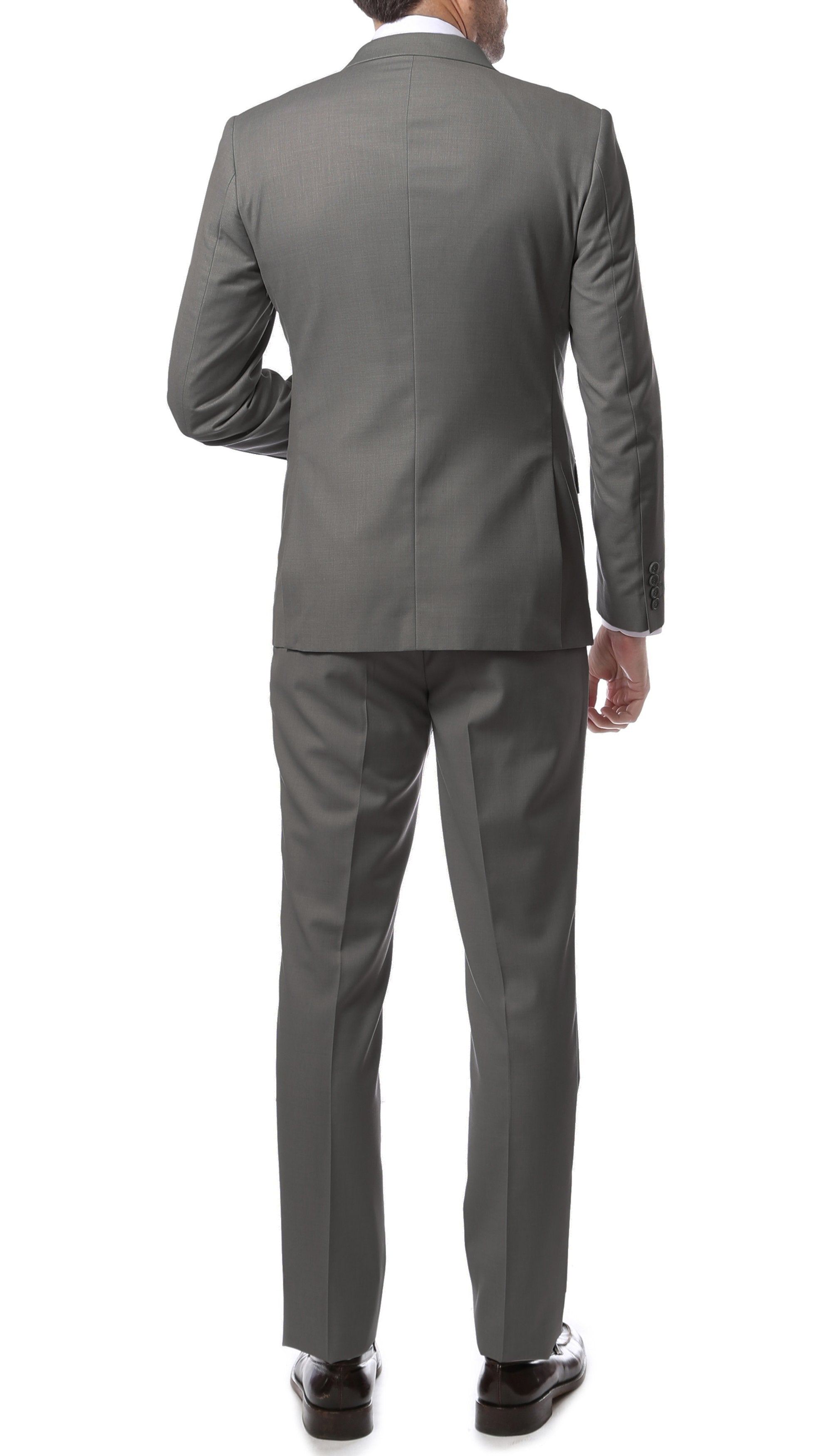 Mens ZNL22S 2pc 2 Button Slim Fit Grey Zonettie Suit - Giorgio's Menswear