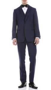 Celio Navy Slim Fit 3pc Tuxedo - Giorgio's Menswear