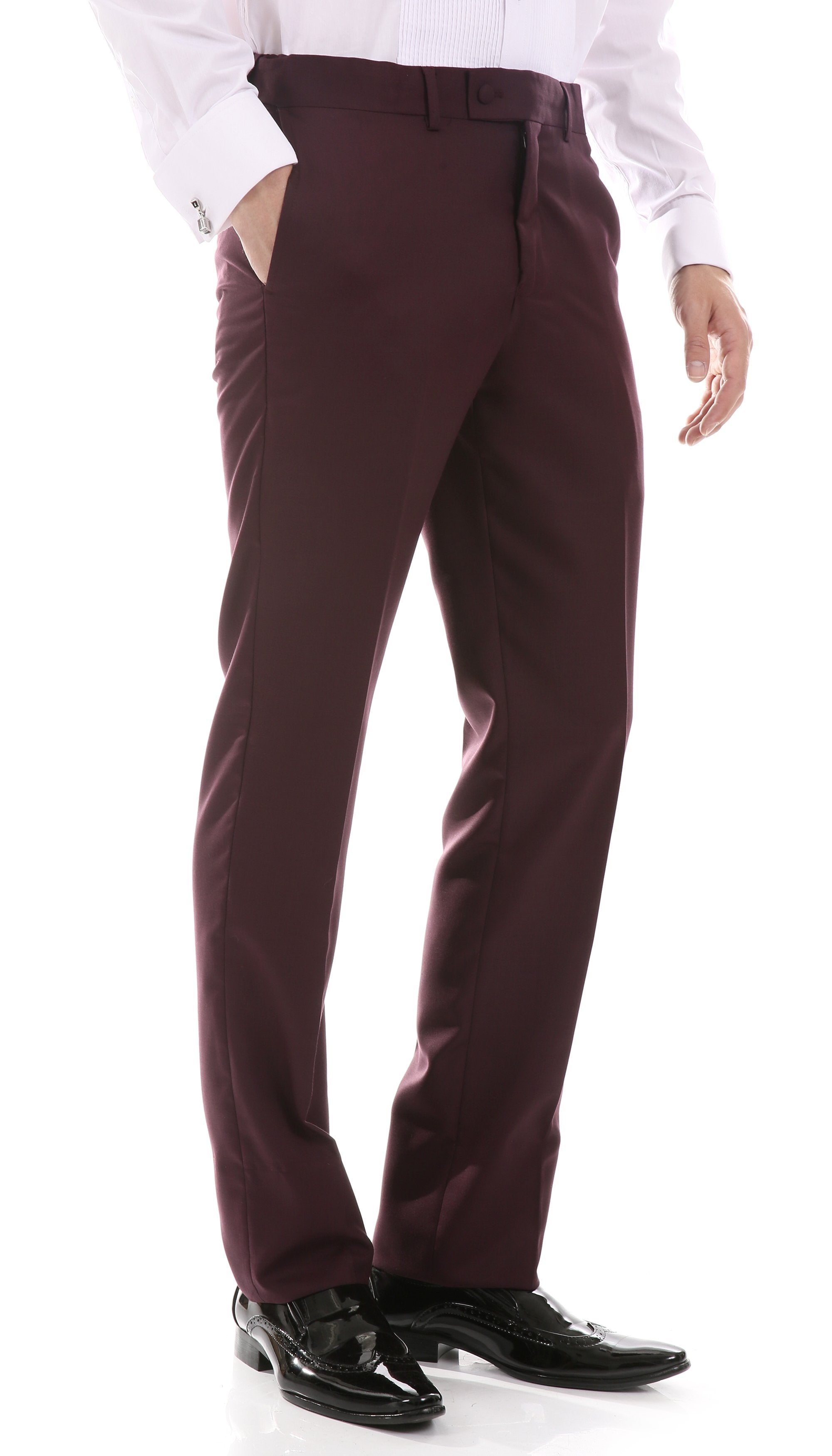 Celio Burgundy Slim Fit 3pc Tuxedo - Giorgio's Menswear
