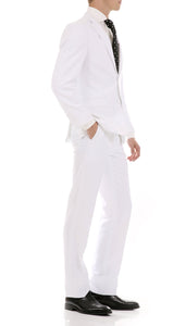 Oslo White Slim Fit Notch Lapel 2 Piece Suit - Giorgio's Menswear
