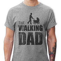 Shirtracer The Walking Dad Herren T-Shirt und Männer Tshirt (XL, Grau Meliert)