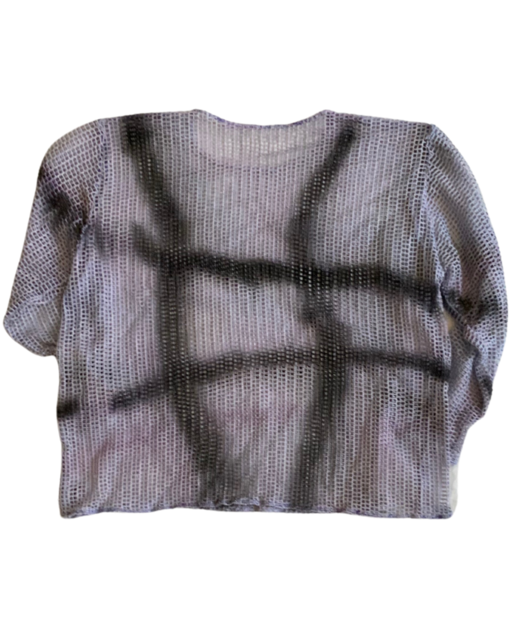 ABSTRACT OVER-DYED LONG SLEEVE TOP