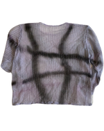 将图片加载到图库查看器,ABSTRACT OVER-DYED LONG SLEEVE TOP