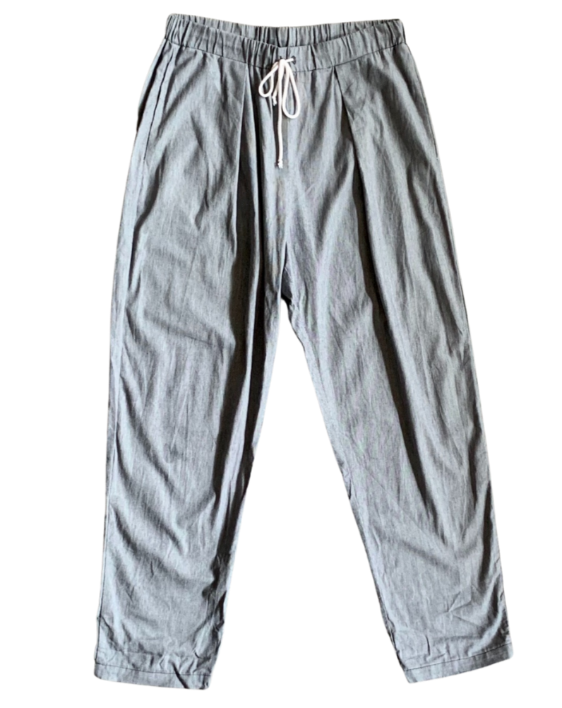 PLEAT FULL PANT STRIPE