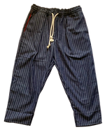 Load image into Gallery viewer, PLEAT PANT TAPERED COTTON PINSTRIPE