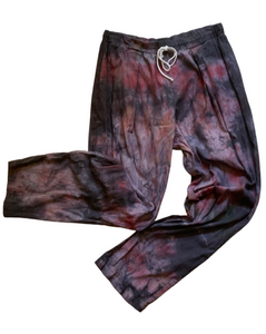 PLEAT FULL PANT GRUNGE DYE