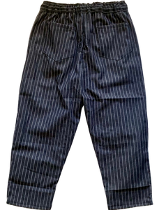 PLEAT PANT TAPERED COTTON PINSTRIPE