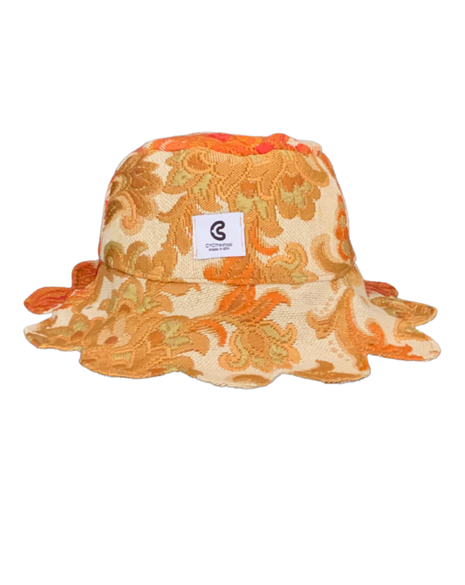 PETAL BUCKET HAT EMBROIDERED PAISLEY 1