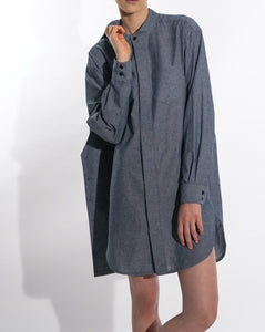 BIG SHIRT DRESS BUTTON CUFF