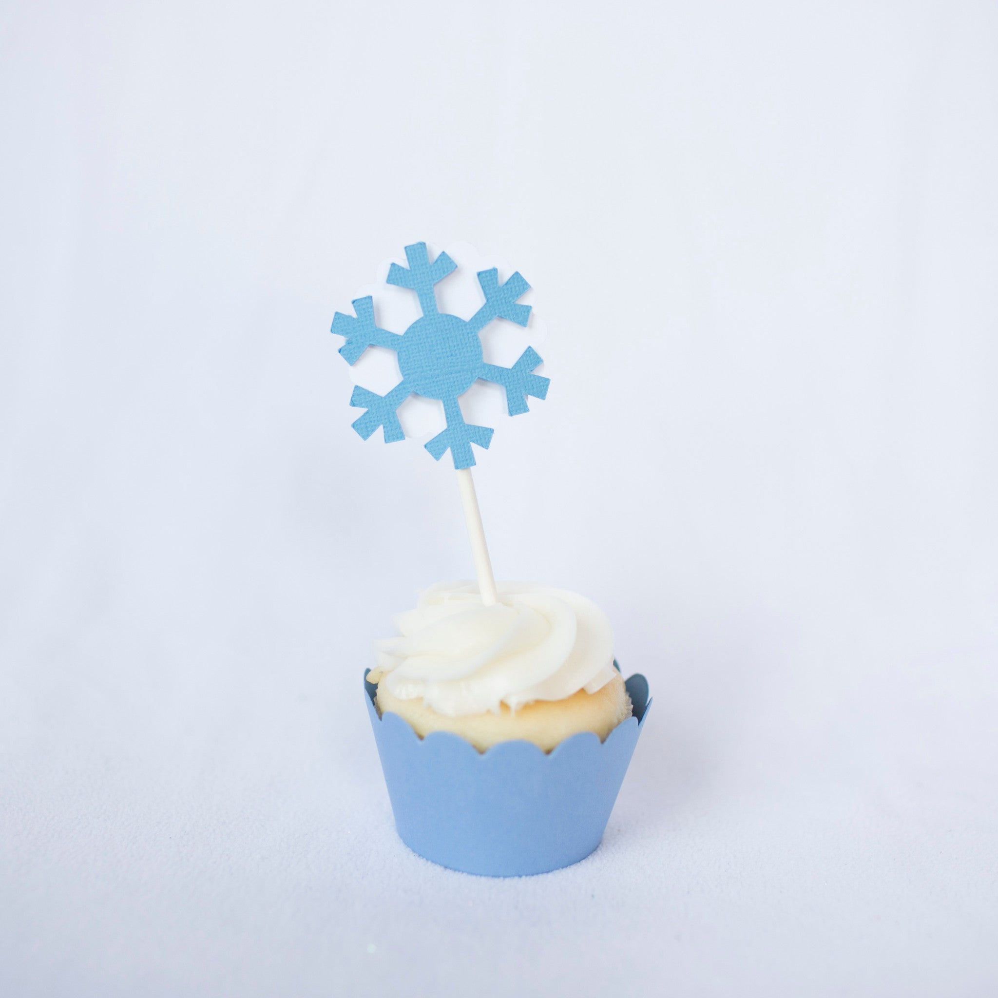 snow queen cupcake toppers