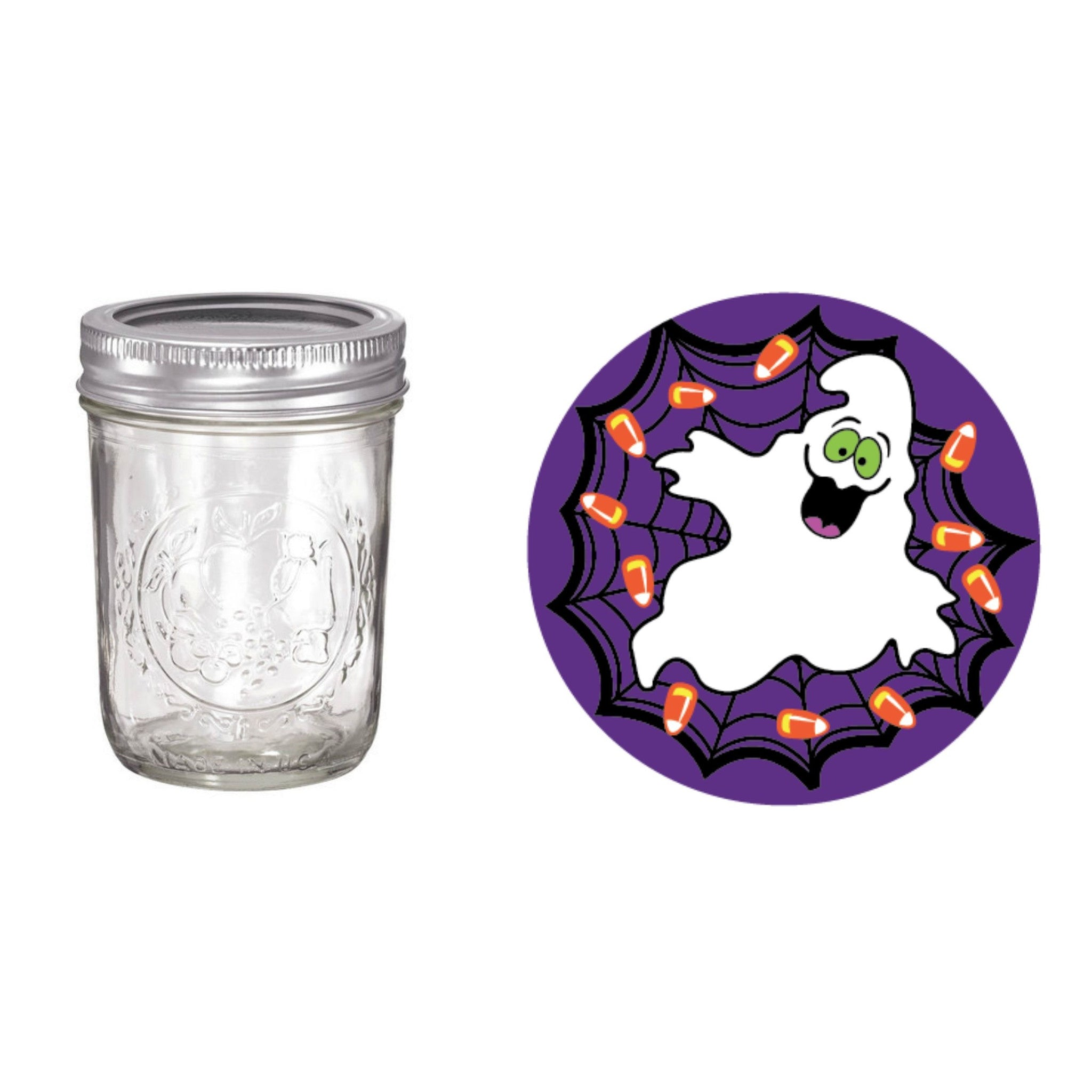 halloween ghost sippy cup mason jar