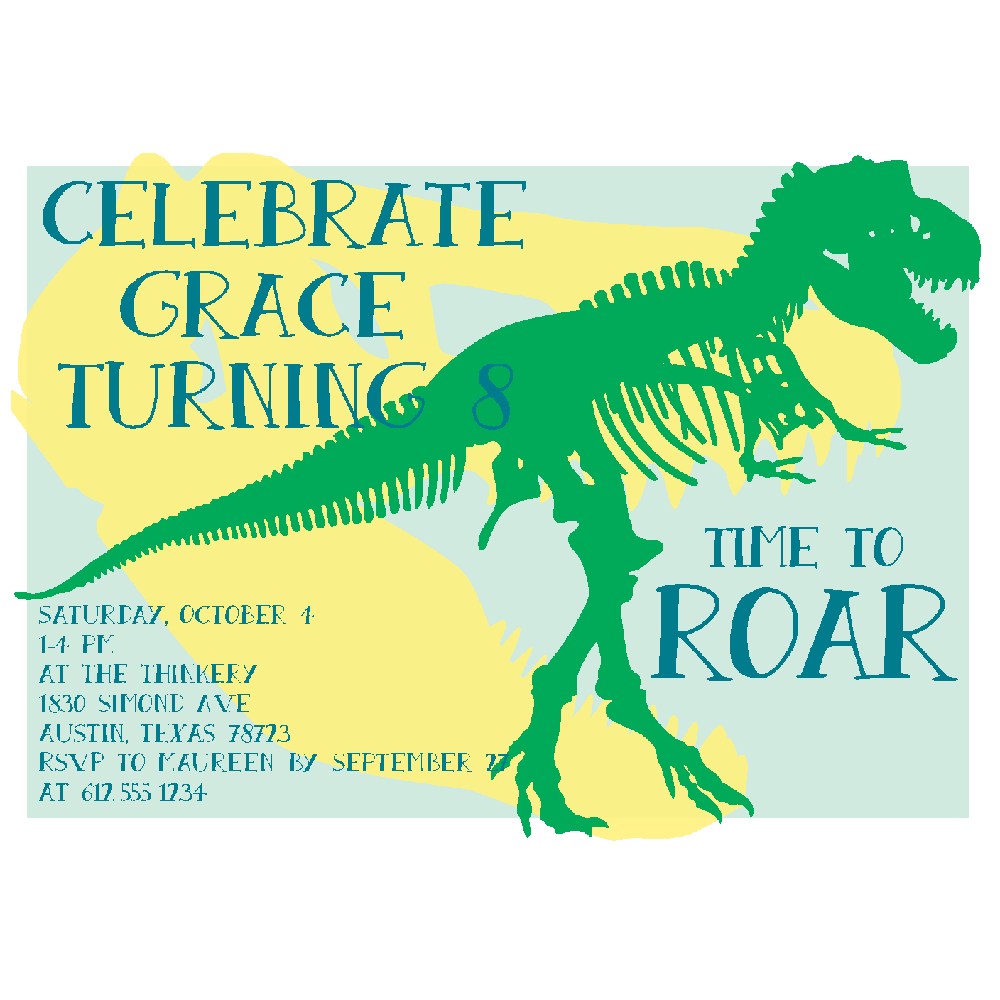 dinosaur or children s museum birthday party invitations