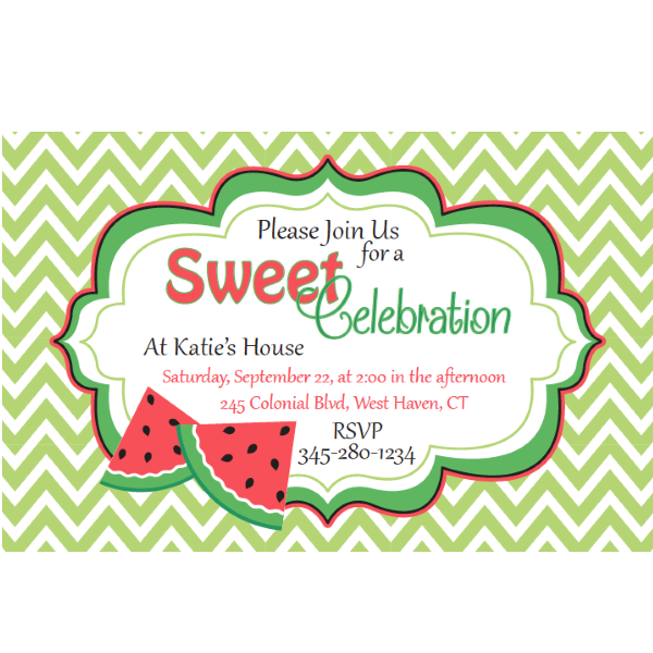 Watermelon birthday party invitations filmwisefo