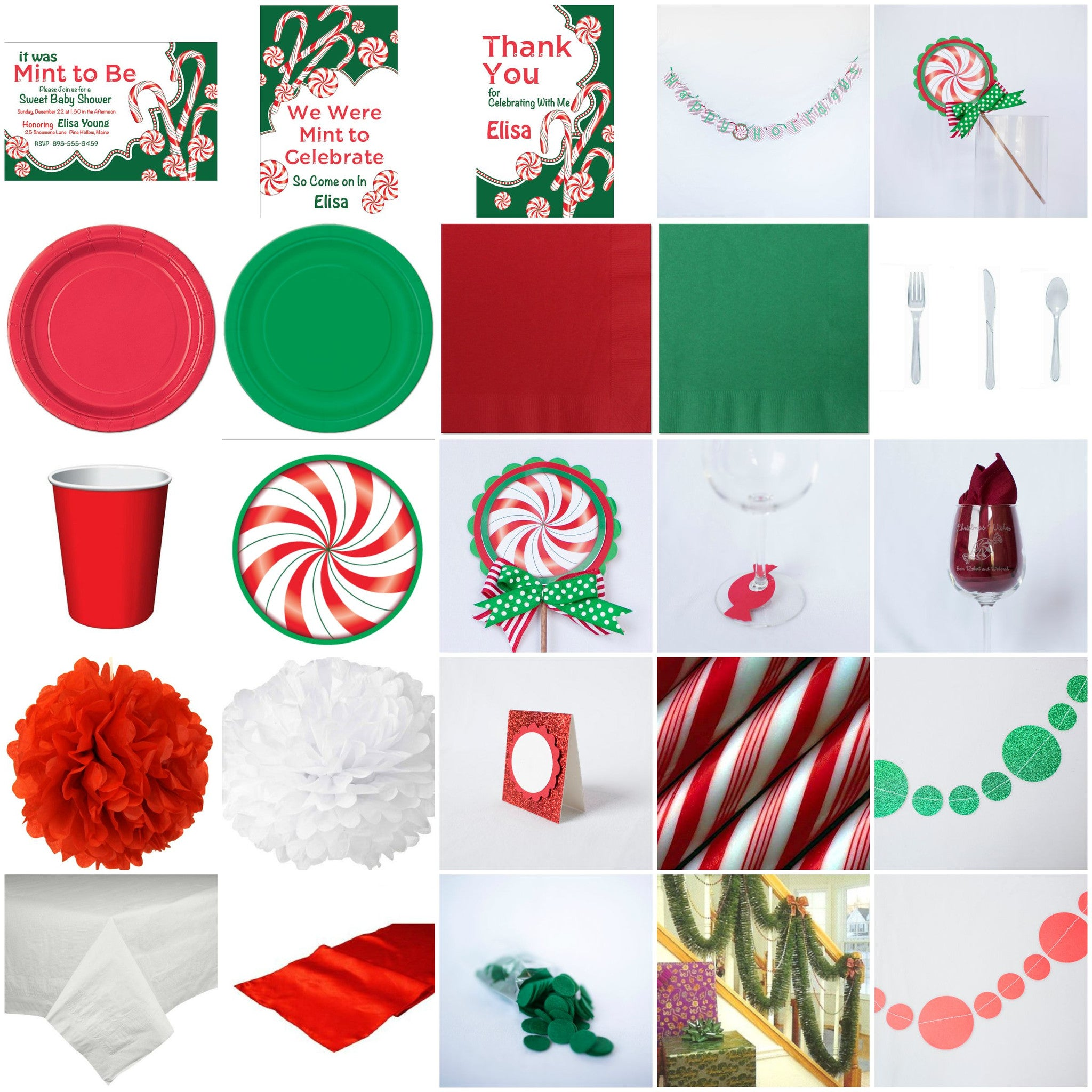 Christmas Peppermint Ultimate Bridal Shower In A Box
