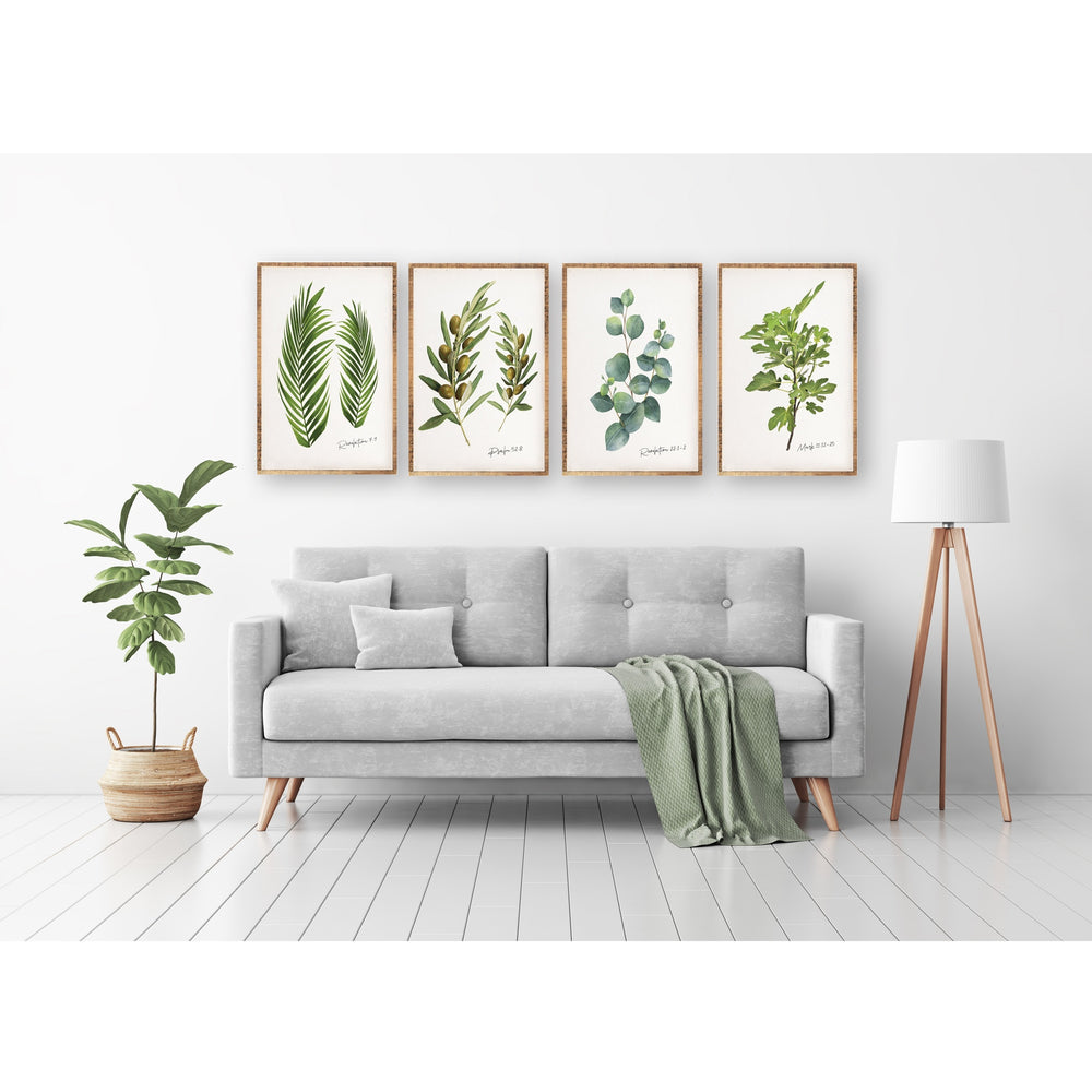 Botanicals Greenery Wall Art Collection - Set of 4