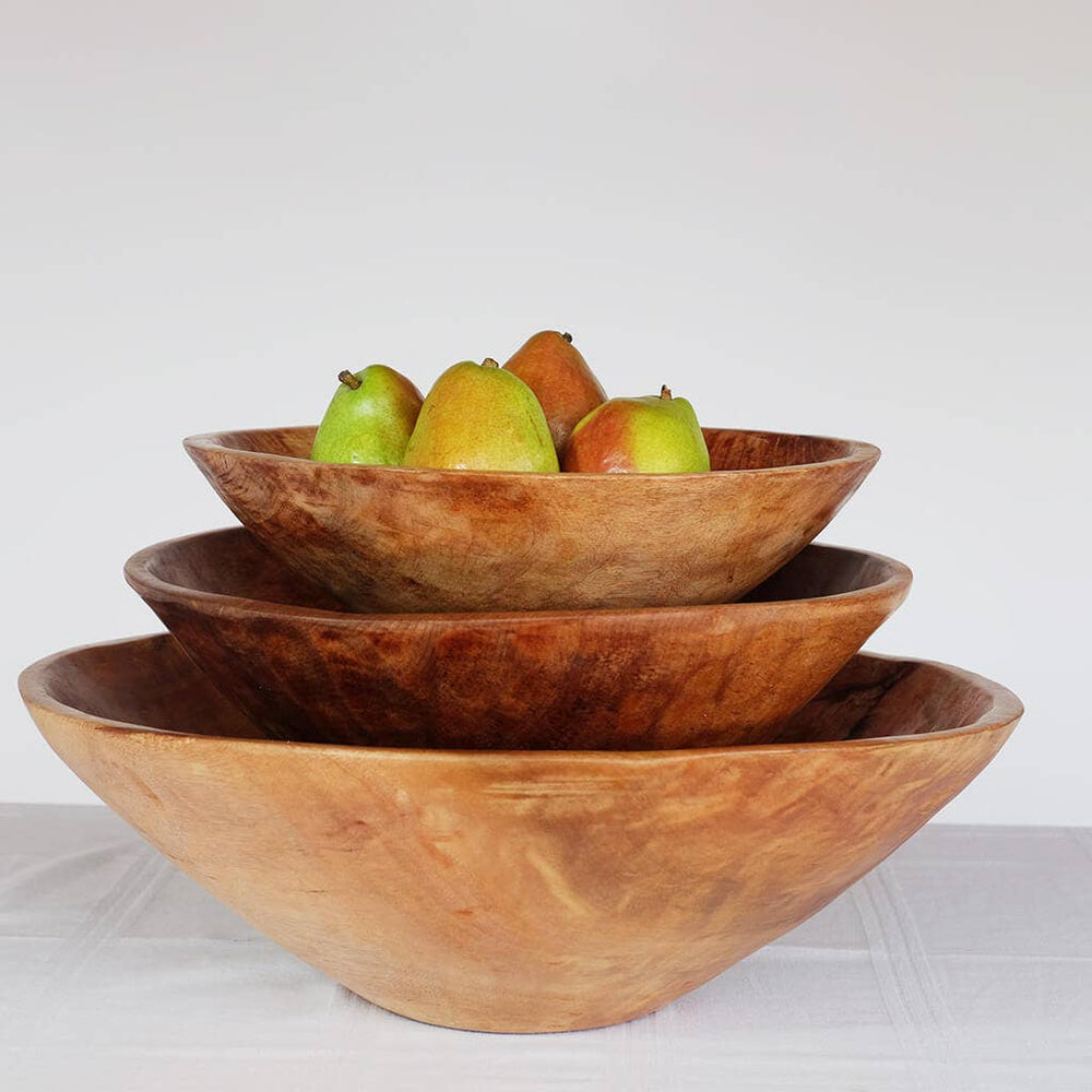 "20"" Hand-carved Wooden Bowl"